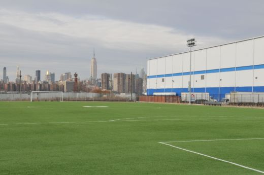 New turf field in Bushwick Inlet Park in Greenpoint