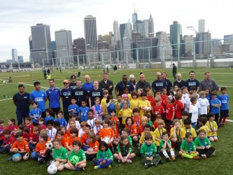 The inaugural season of Brooklyn Bridge Park's youth soccer league.